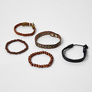 Multipack zwarte festival kralenarmbanden