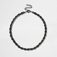 Black twist chain necklace
