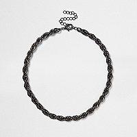 Black twist chain necklace
