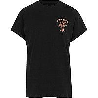 Black 'high hopes' print oversized T-shirt