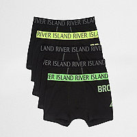 Black bright waistband trunk multipack