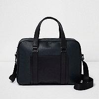 Dark green blocked cross body messenger bag