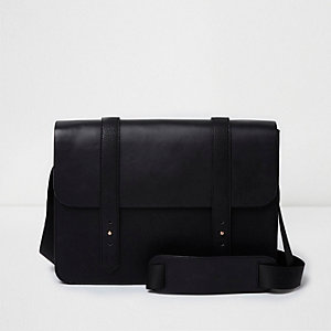 Black cross body satchel bag