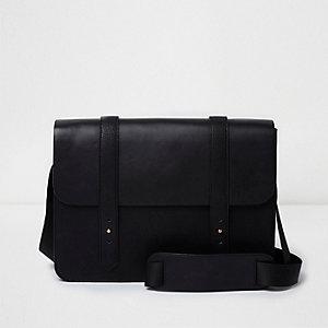 Black cross body satchel bag