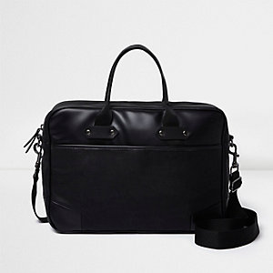 Black cross body messenger bag