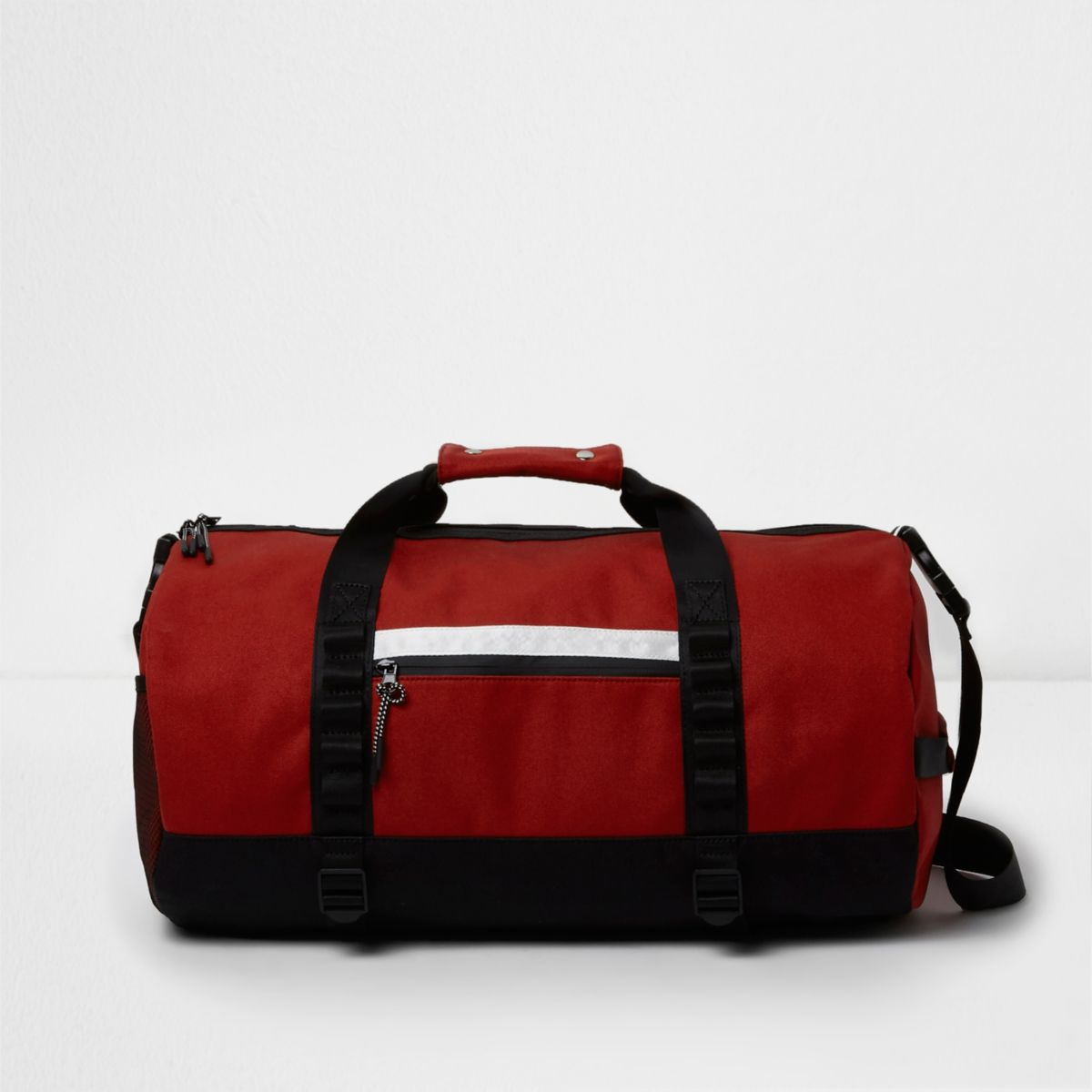 Red sporty holdall bag