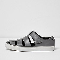 Light grey cupsole sandals