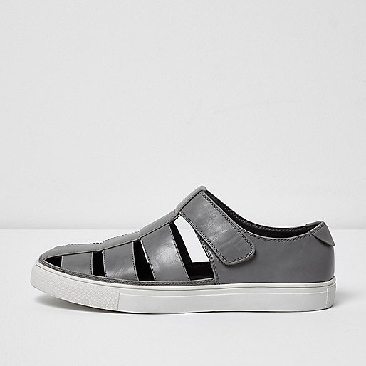 Light grey cupsole sandals