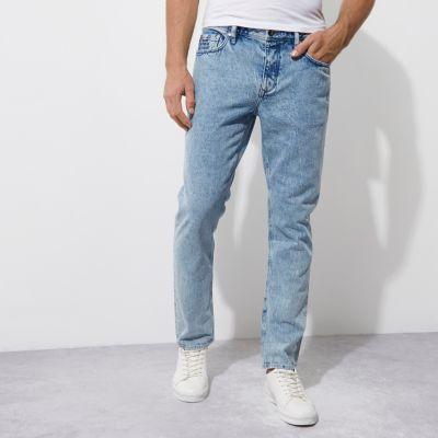 Felipe Pantone Blauwe stone wash jeans