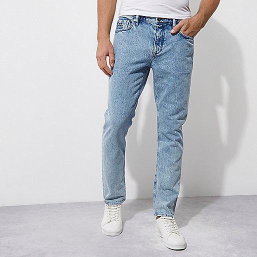 Blue Felipe Pantone stone wash jeans