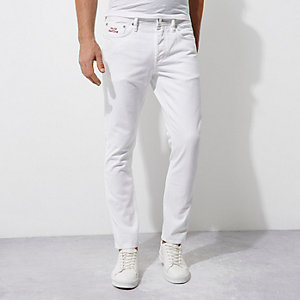 White Felipe Pantone slim fit jeans