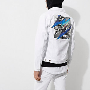 White Felipe Pantone denim jacket