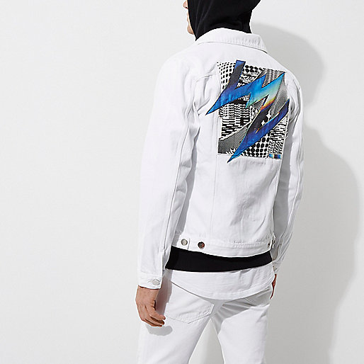 White Felipe Pantone denim jacket