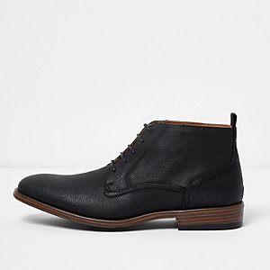Black chukka boots