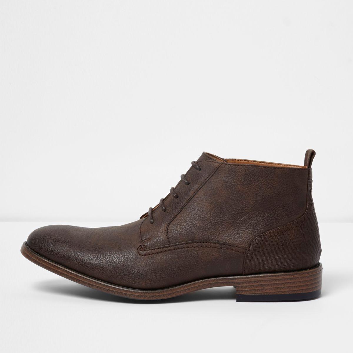 Dark brown chukka boots