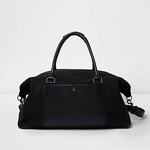Zwarte weekendtas met zak voor