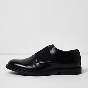 Black elastic formal shoes