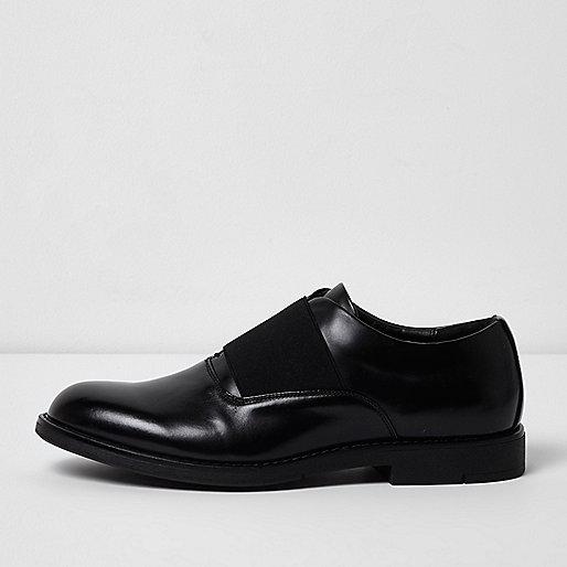 Black elastic formal shoes