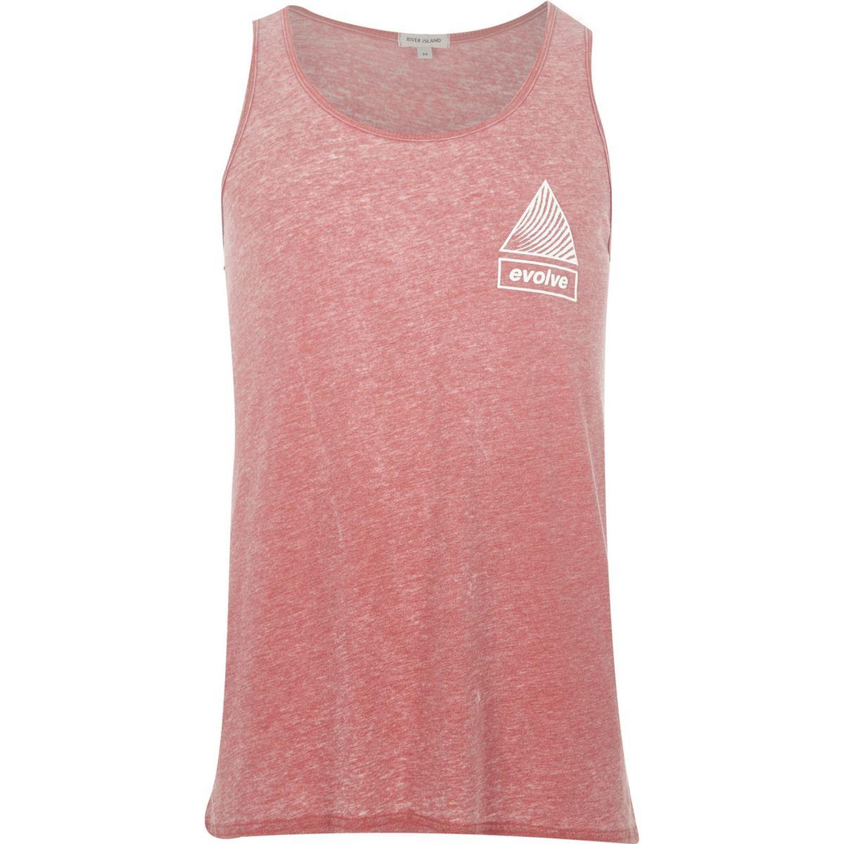 Orange burnout 'evolve' print vest