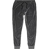 Pantalon de jogging en velours gris foncé