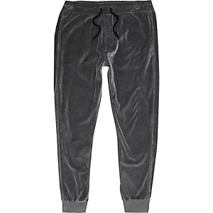 Dark grey velour joggers