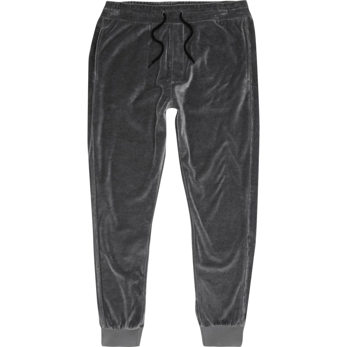 Dark grey velour joggers