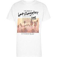 T-shirt à imprimé « Los Angeles » blanc