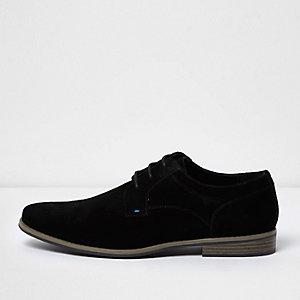 Chaussures derby en daim noir