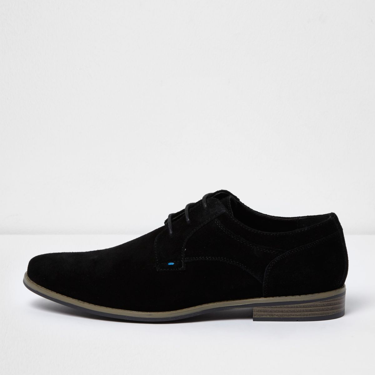 Zwarte suède derby schoenen