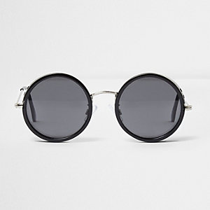 Black round cut out sunglasses