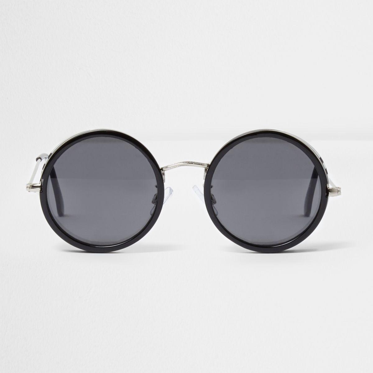 schwarze runde sonnenbrille holiday shop sale herren. Black Bedroom Furniture Sets. Home Design Ideas