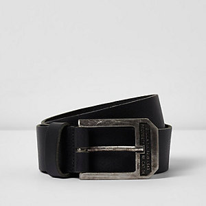 Black big buckle belt