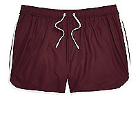 Big and Tall burgundy short swim shorts