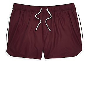 Big and Tall burgundy short swim shorts