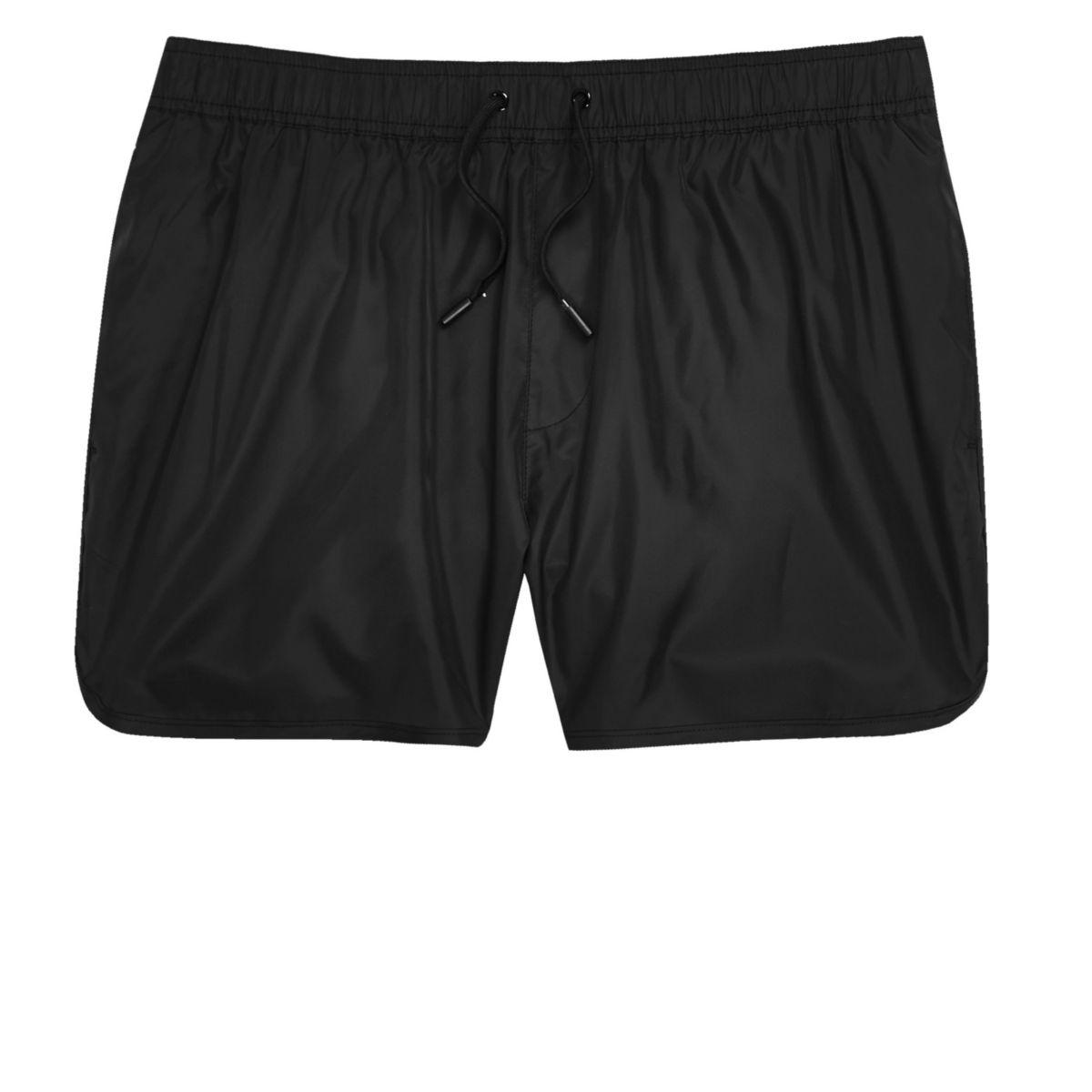 Big and Tall black short swim shorts