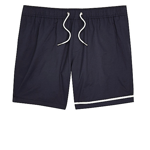 Big and Tall navy swim trunks