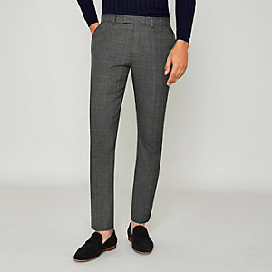 Grey Prince of Wales check suit trousers