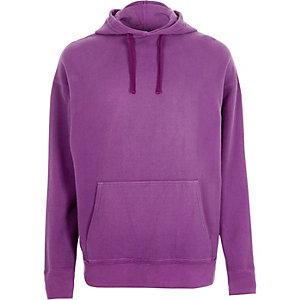 Sweat à capuche violet délavé