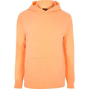 Sweat à capuche orange à manches longues