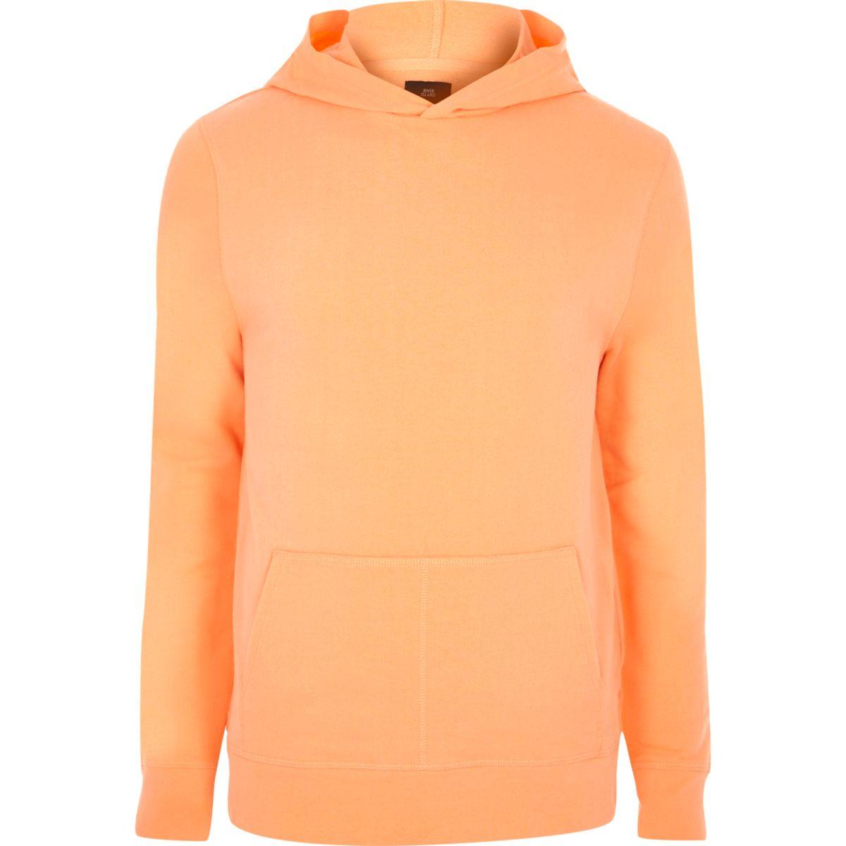 Orange long sleeve hoodie