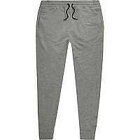 Grey jersey joggers