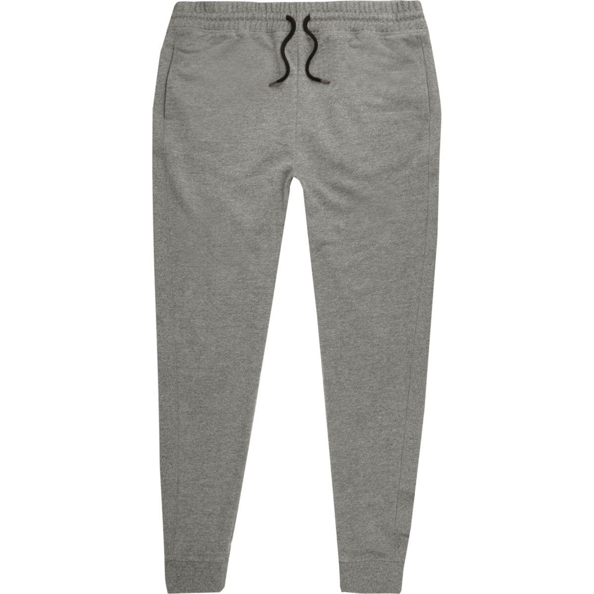 Grey jersey joggers
