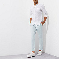 Light blue slim chino trousers