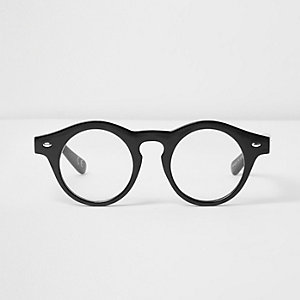 Black Jeepers Peepers round clear glasses