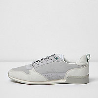 White retro runner trainers