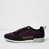 Purple retro runner sneakers