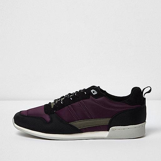 Purple retro runner sneakers