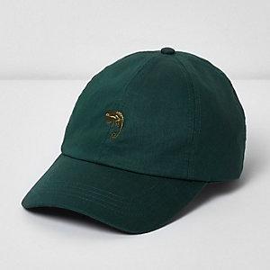 Green chameleon baseball cap