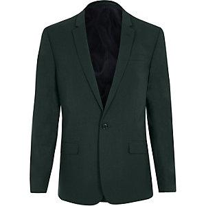 Dunkelgrüne Skinny Fit Anzugsjacke
