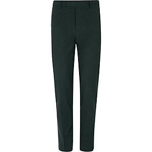 Donkergroene skinny-fit pantalon met stretch